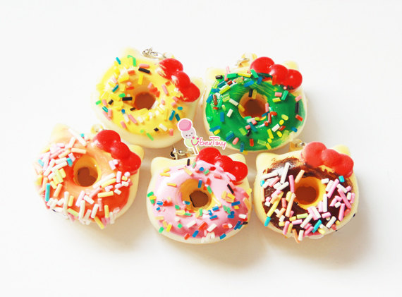 Hello Kitty Mini Donut Squishy Charm ? Uber Tiny ? Online Store Powered by Storenvy