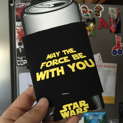 Star wars beer koozie: may the force be with you