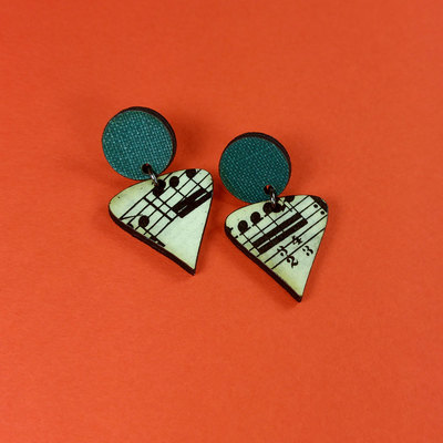 Musical duo earrings - triangle