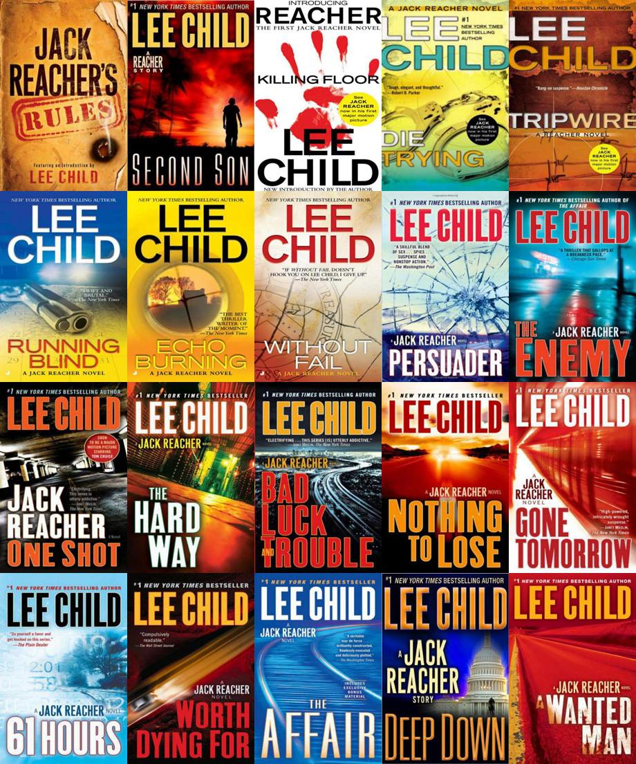 Jack Reacher Series Complete Collection Bundle Set By Lee
