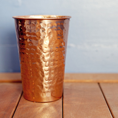 Hammered copper tumbler - Thumbnail 1