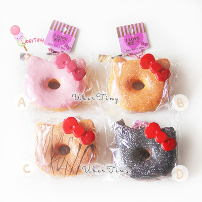 Donut Squishy Collection : Hello Kitty Powdered Donut Squishy Jumbo (Licensed) ? Uber Tiny ? Online Store Powered by Storenvy