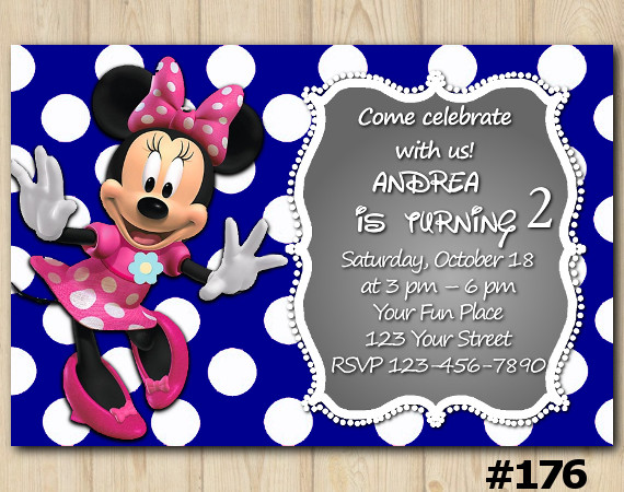 Minnie Mouse Birthday Invitation 176