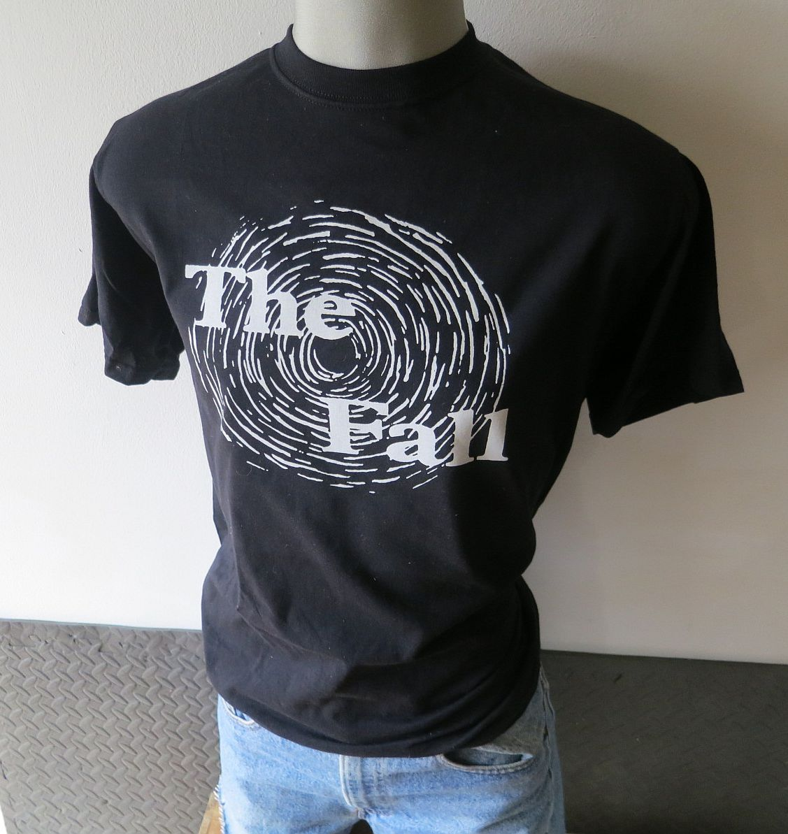 The fall band t shirt screen print black vintage tees t for Vintage screen print t shirts