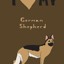 German Shepherd, 5x7 print
