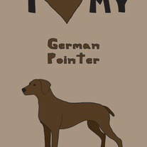 German Pointer, 5x7 print