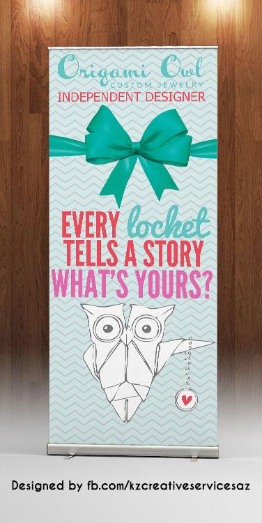 Origami Owl Logo Retractable Banner Kz Creative Services Online