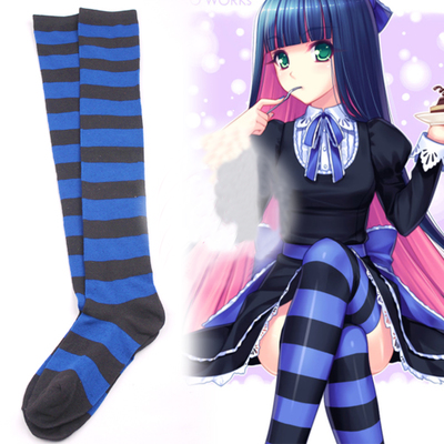Japanese kawaii cosplay stripes stockings · Asian Cute ...