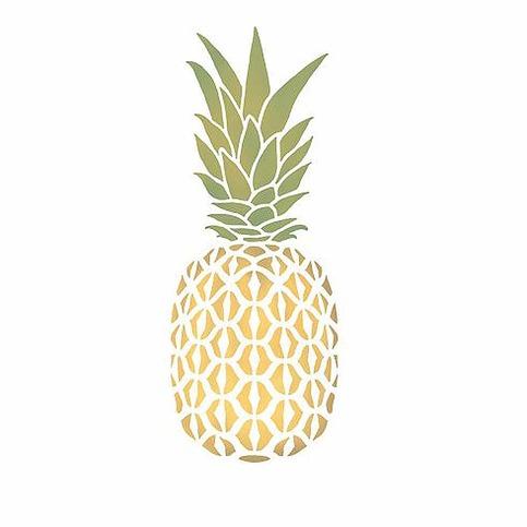 Pineapple Wall Stencil - MEDIUM - DIY Wall Design ... Pineapple Stencil