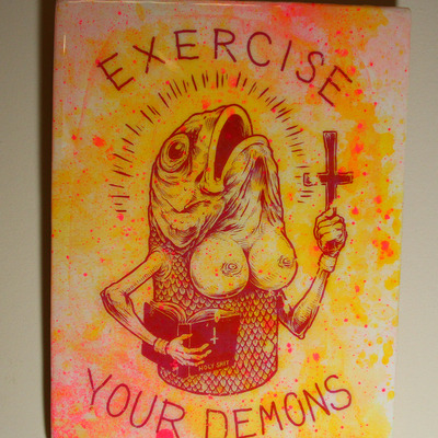 Exercise your demons - wood transfer