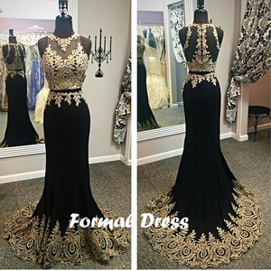 Black and Gold Prom Dresses