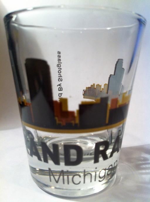Grand Rapids Michigan Sunset Skyline Shot Glass ? World By ...