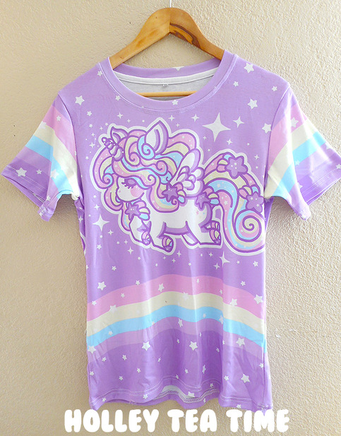 Rainbow Stardust Alicorn All Over Print T Shirt Made To