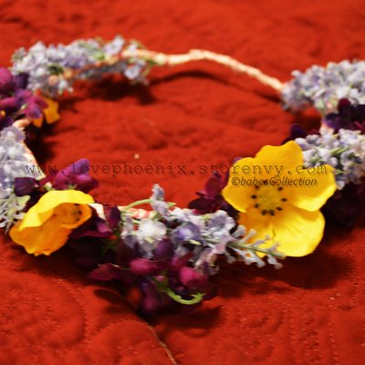 Cute purple and yellow floral crown
