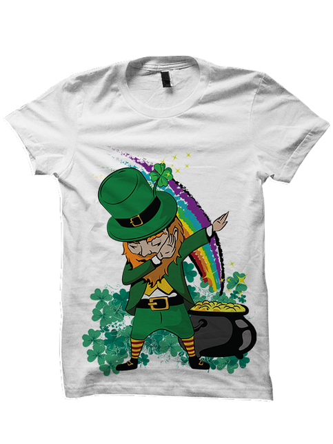 St Patricks Day T Shirt Dabbin Leprechaun Shirt St