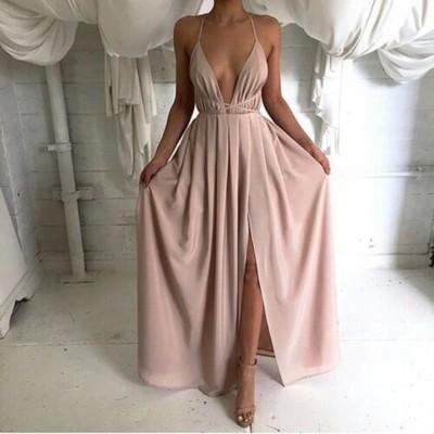 Long prom dresses, simple prom dresses, cheap prom dress, chiffon ...