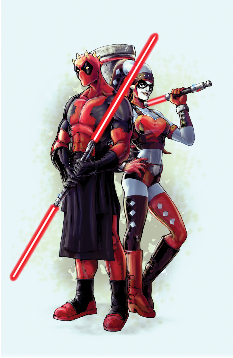 Deadpool and harley glovestudios online store powered - Deadpool harley quinn ...
