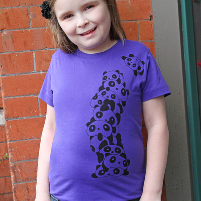 Gift for girls, panda shirt, gift for kids, girls tee, panda tee, purple shirt, panda gift, kids shirt, t shirt, youth tee, girls gift