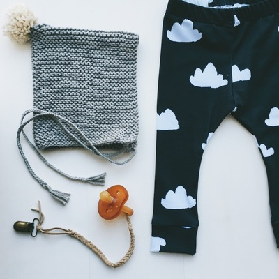 Baby leggings - clouds