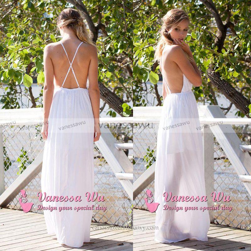 347e3344a6 Sexy Plunge V-neck Prom Dress