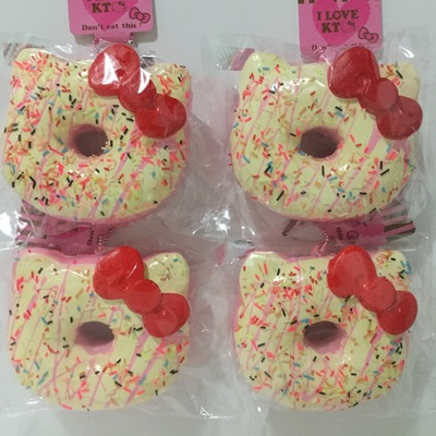 Hello Kitty Donut Squishy Size : Jumbo Kapibarasan Face Loaf Squishy ? KawaiiChain ? Online Store Powered by Storenvy