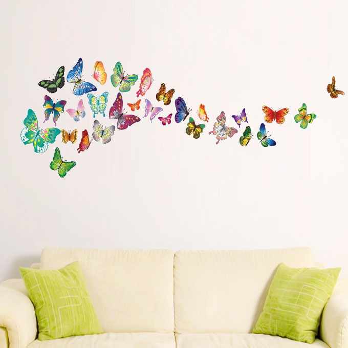 pics photos wall stickers butterflies