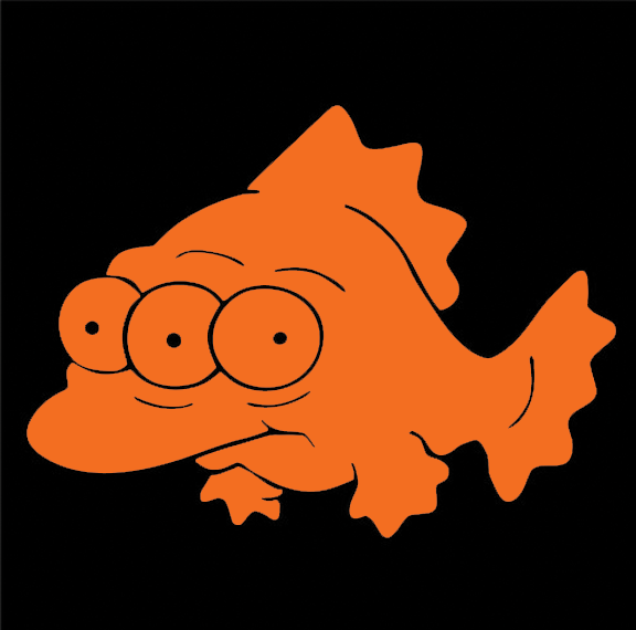 Blinky fish vinyl decal sticker thesimpsonsman for Blinky the fish