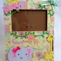 Jungle Baby-Girl Frame