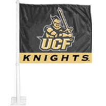 UCF Black & Gold Car Flag