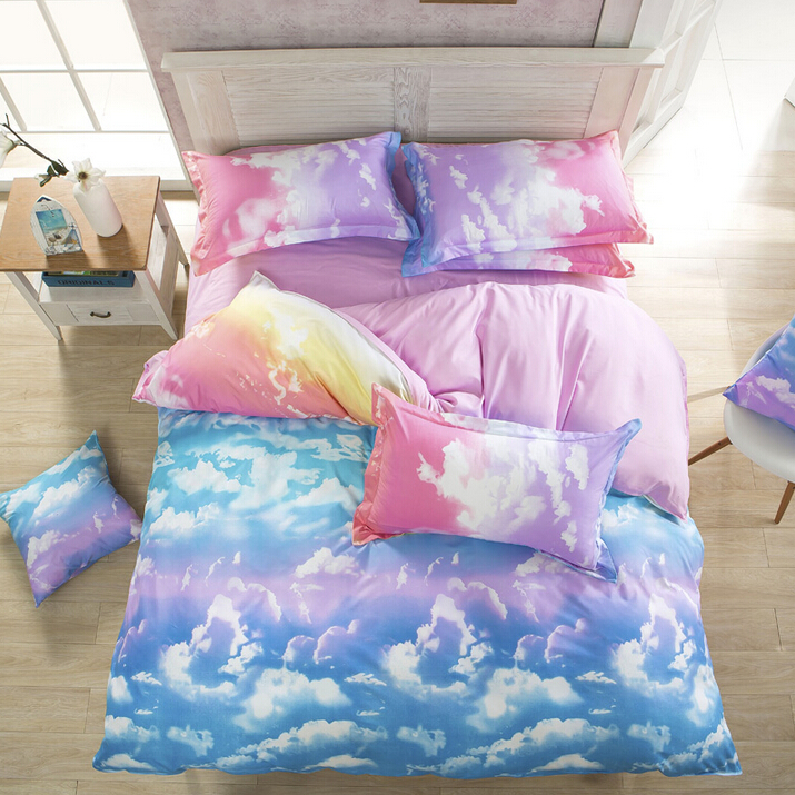 Harajuku Galaxy Sheet Bedding Bag Four Piece.