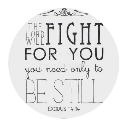 "Exodus 14:14 - the lord with fight for you melamine plate - 10"" customized dinnerware"