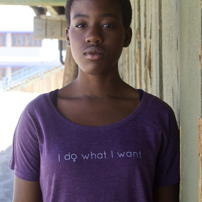"Feminist shirt: ""i do what i want"" shirt (plum) by fourth wave apparel, handmade, soft triblend"