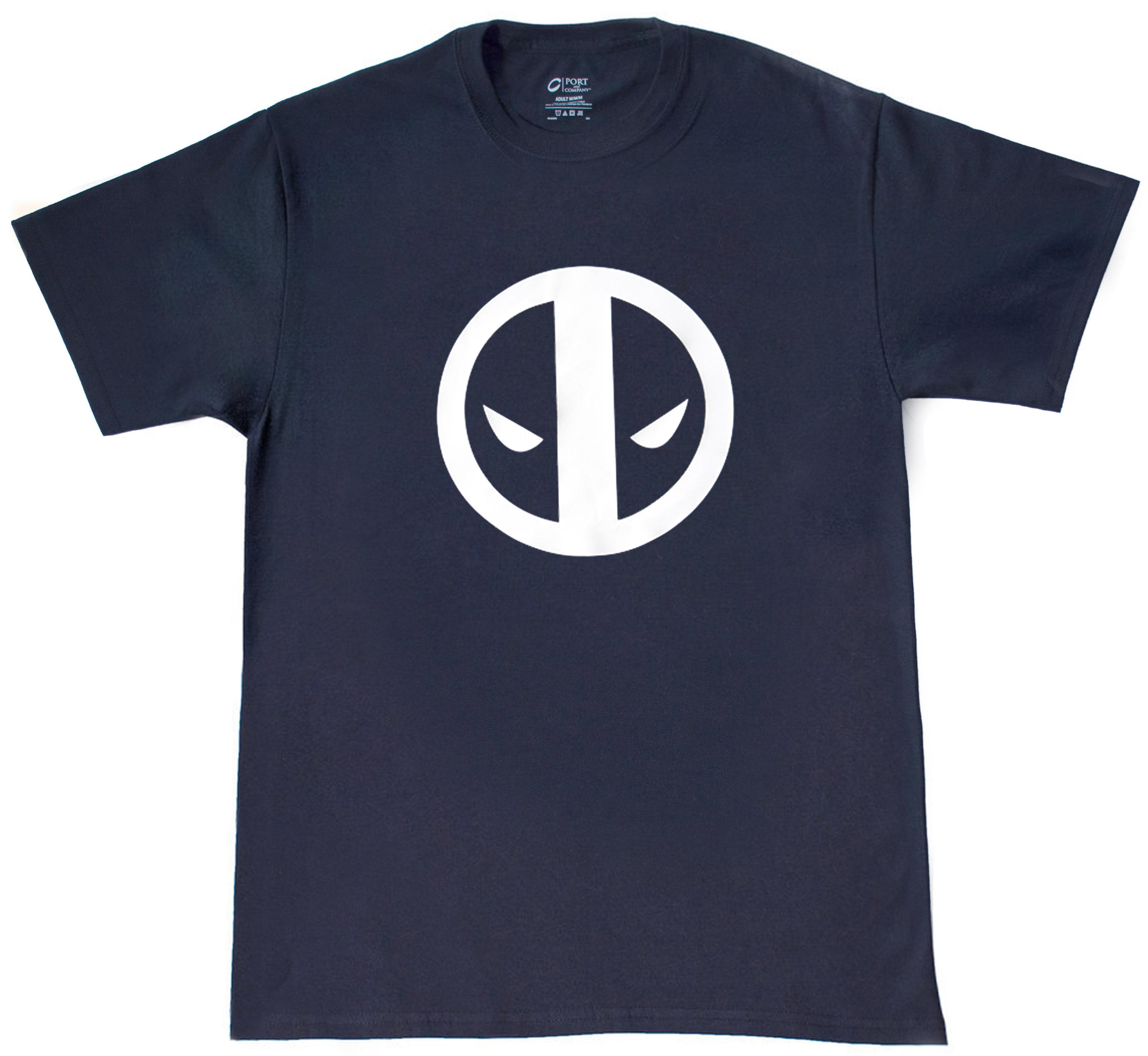Deadpool logo t shirt top notch custom apparel online for Custom t shirt shop online