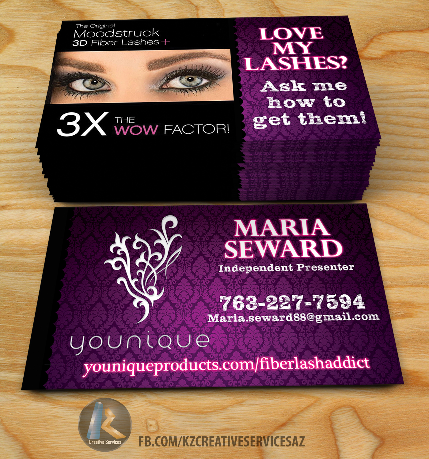 Younique Business Cards 2 · KZ Creative Services · line Store