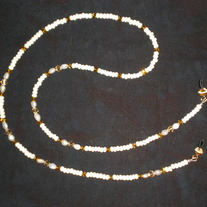 Beaded Eyeglass Chain Gold/Cream/Pearl (Spec. Order)