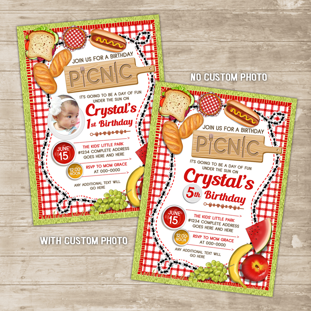 Picnic invitation outdoor family cookout invite park backyard bbq picnic invitation outdoor family cookout invite park backyard bbq invitations birthday card thumbnail 2 filmwisefo
