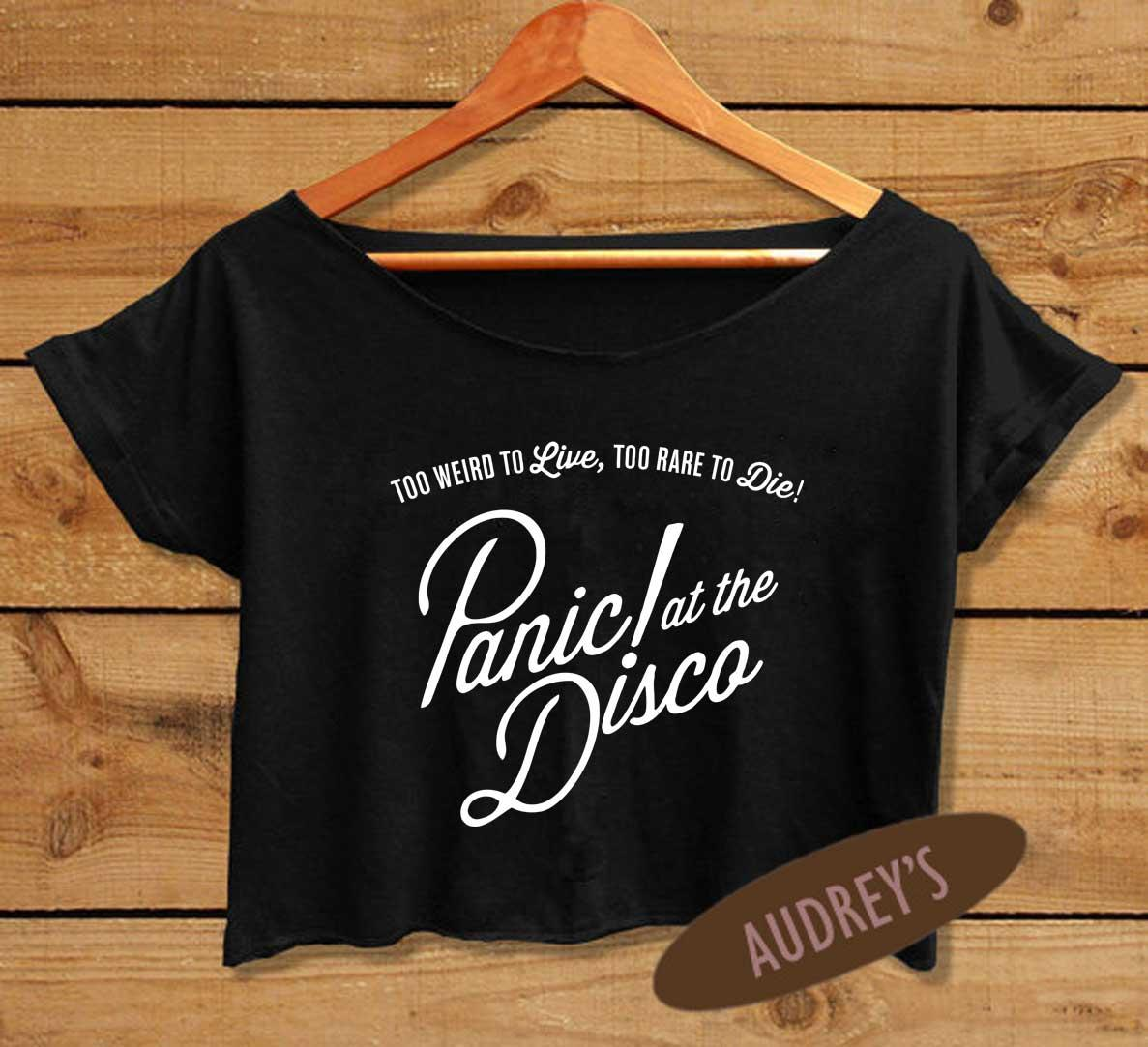 Women S Panic At The Disco Shirt Brendon Urie Crop Top P