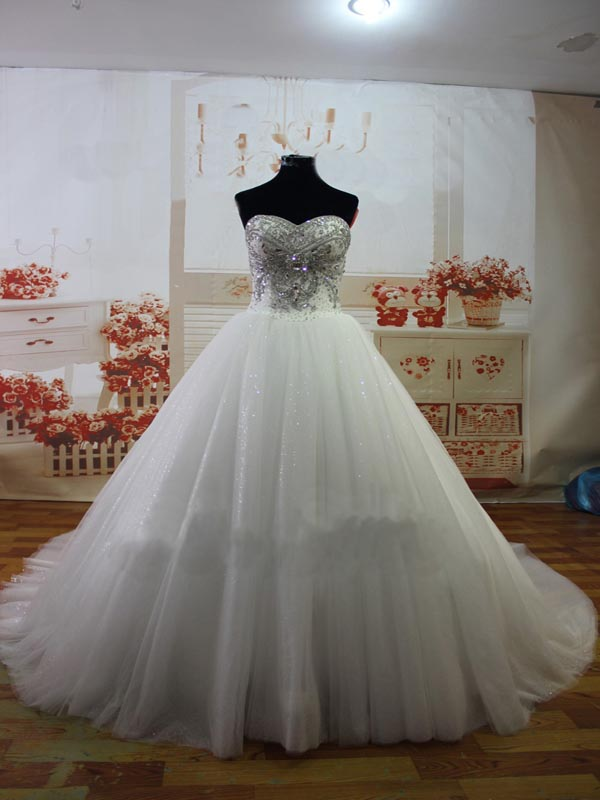 sparkly wedding dress ,A-line wedding dress ,sweetheart wedding ...