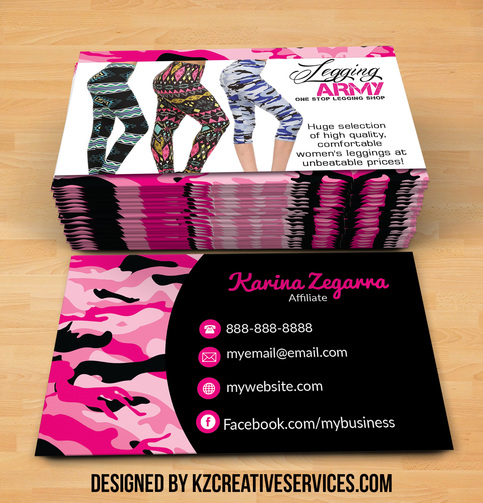Legging army business cards style 2 kz creative services for Best way to store business cards