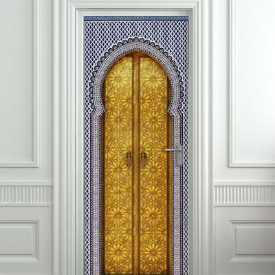 Sticker for door / fridge / wall - aladdin gates poster, mural, skin,