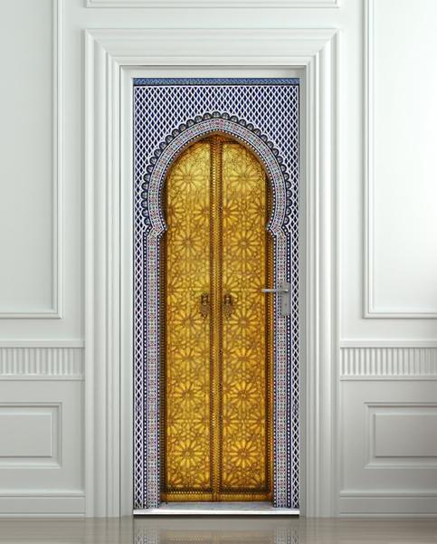 Sticker For Door Fridge Wall Aladdin Gates Poster