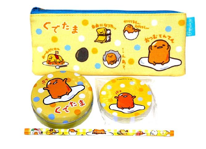 gudetama stationery goods set full of sanrio gudetama goods