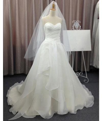 Wedding dresses,sweetheart wedding dress,a-line chiffon bridal gown ...