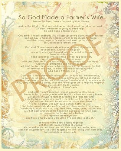 Farmer's Wife Poem