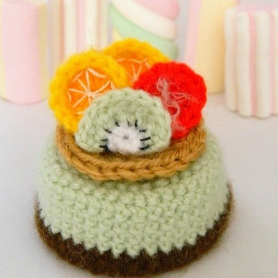 Pdf Amigurumi Fruit Cake Crocheted Cake Pattern Pdf Crochet