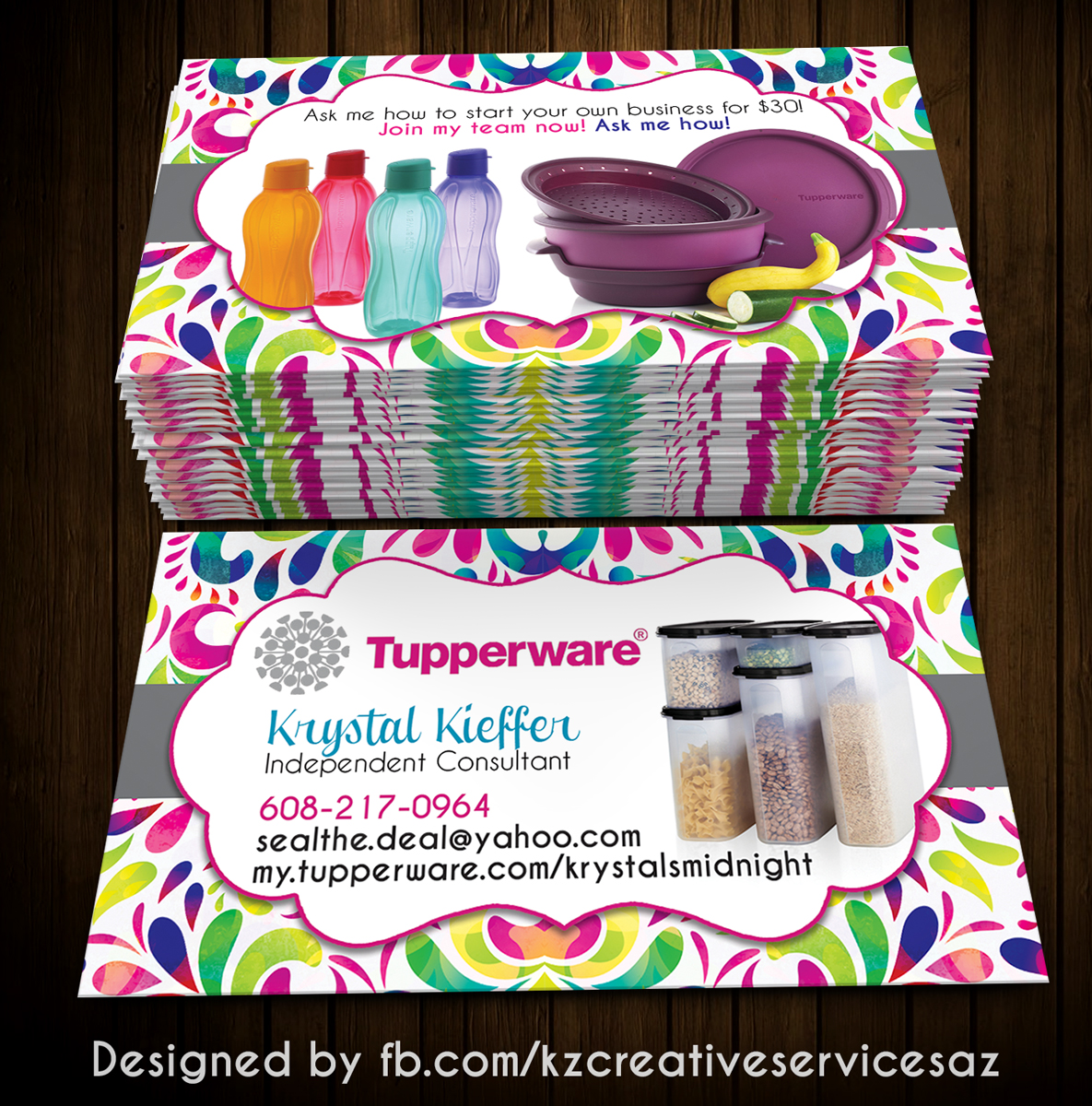 tupperware business cards style 5 - Tupperware Business Cards