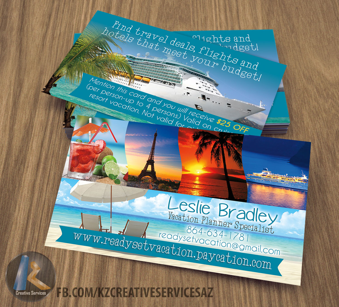 Paycation Business Cards style 1 · KZ Creative Services · Online ...