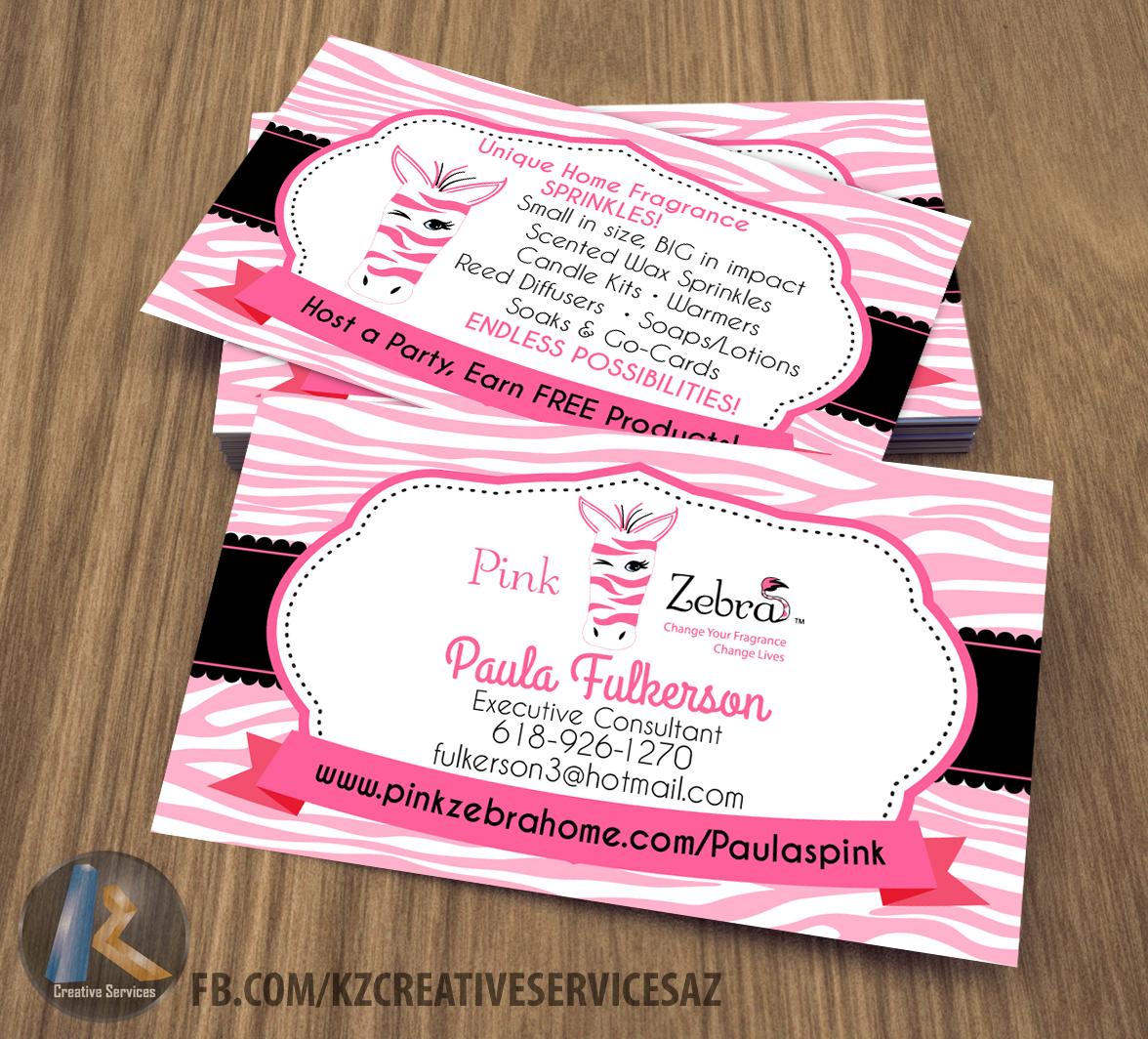Pink zebra business cards style 4 kz creative services online pink zebra business cards style 4 colourmoves