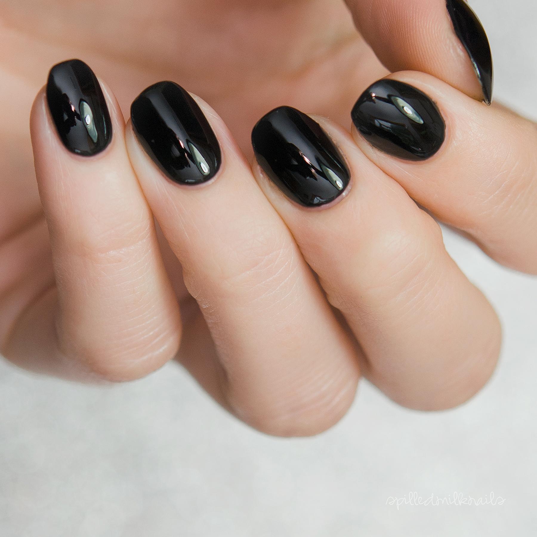 Black Eye - Custom Galaxy Black Creme Nail Polish from Spellbound Nails