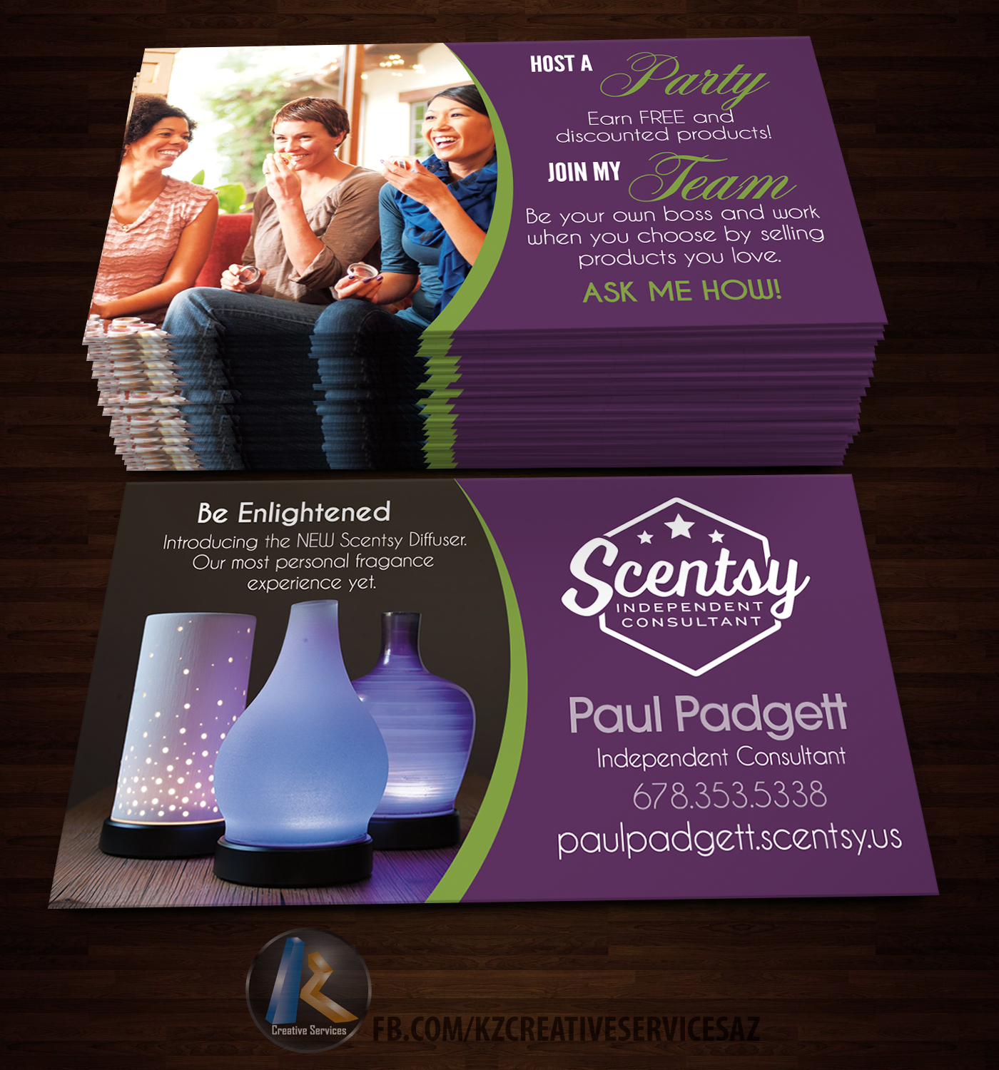 Scentsy Business Cards style 4 · KZ Creative Services · Online ...